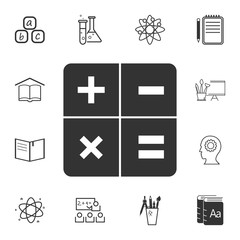 Calculator icon. Detailed set of education element icons. Premium quality graphic design. One of the collection icons for websites, web design, mobile app