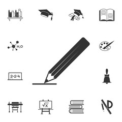 Pencil Icon. Detailed set of education element icons. Premium quality graphic design. One of the collection icons for websites, web design, mobile app