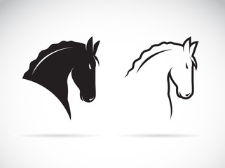 Vector of horse head design on white background. Wild Animals. Easy editable layered vector illustration.