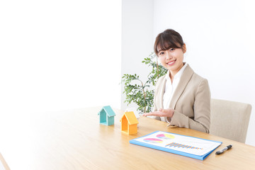 Businesswoman selling  real estate