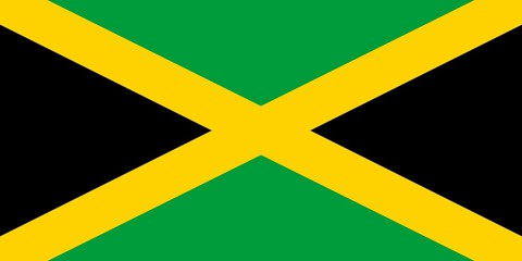 Flag in colors of Jamaica, vector image.