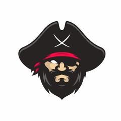 Pirates vector logo icon illustration
