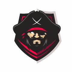 Pirates vector logo icon illustration