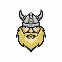 Viking vector logo icon illustration
