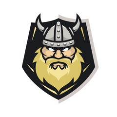Viking vector logo icon illustration