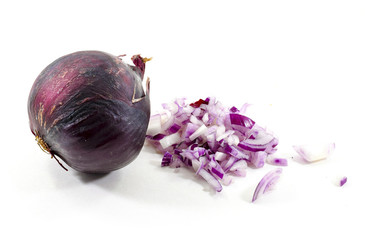 Fresh organic finely chopped red onion