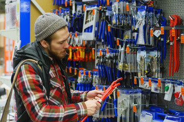 Man in a hardware store