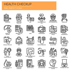 Health Checkup , Thin Line and Pixel Perfect Icons.