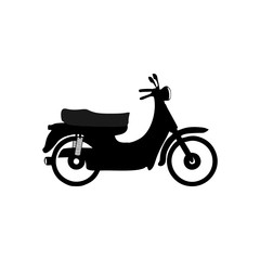 Motorbike icon. Vector Illustration