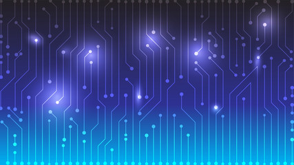 Blue Gradient Circuit board design background