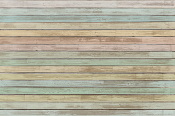 pastel colored wood planks background or texture