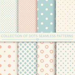 Collection of baby seamless patterns.Orange,turquoise, beige colors.Seamless pattern included in swatch panel.Vector background.