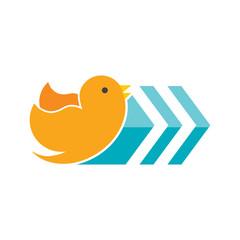 Bird Arrow Logo Icon Design