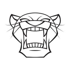 graphic head panther, vector