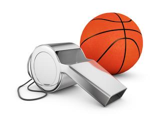whistle and basketball