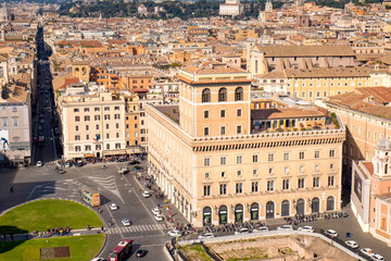 Venice Square in the center of Rome, Italy