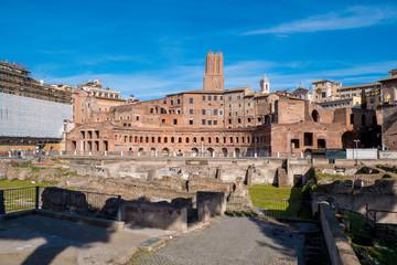Trajan Market (Mercati di Traiano) near the Roman Forum and Trajan's Column in Rome, Italy