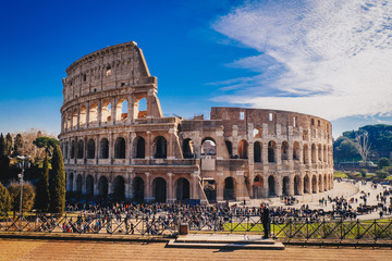 Photo sur Aluminium Rome The Roman Colosseum in Rome, Italy HDR image