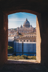 View of Rome from the Castel Sant`Angelo, Italy
