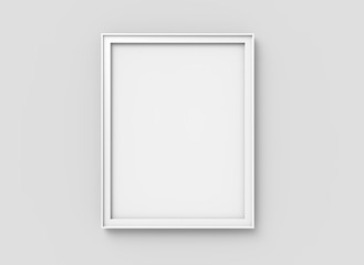 Blank picture frame mockup