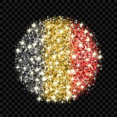Belgium flag sparkling badge