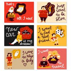 Human Dreams Horizontal Cards