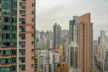 Aerial view of residential area of Hong Kong. China