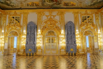 Interior of Catherine Palace a Rococo palace in Tsarskoye Selo Saint Petersburg Russia Fototapete