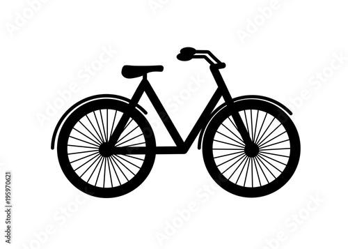 Flat Icon Design Of City Mountain Bike Vector Illustration Walk