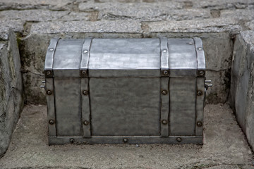 Old silver trunk