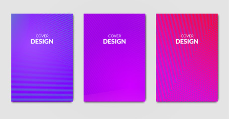 Colorful cover design. Set on modern placard backgrounds