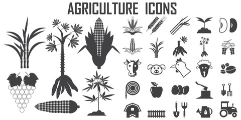 bio, energy, fuel, agriculture, green, eco, plant, environment, nature, clean, organic illustration flat icons. mono vector symbol