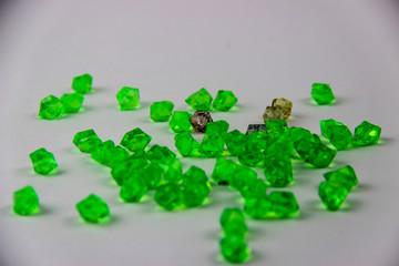 Artificial green stones