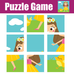 Puzzle for toddlers. Educational game. Complete the picture. Activity for pre school years kids.
