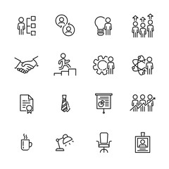 Business work icon set 3, vector eps10