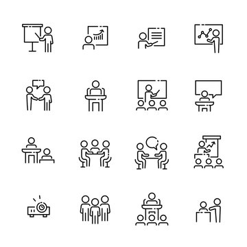 Business work icon set, vector eps10