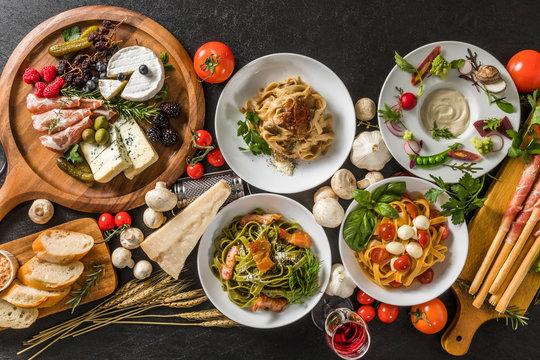 イタリアンホームメイドパスタ Fettuccine pasta Italian cuisine