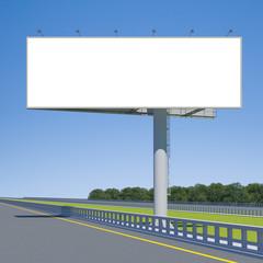 3d rendering blank billboard 01. 3d modeling