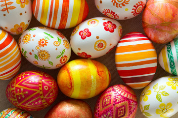 Easter eggs hand painted