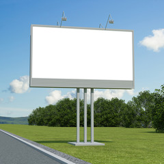 3d rendering blank billboard 05. 3d modeling
