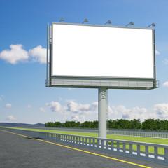 3d rendering blank billboard 04. 3d modeling