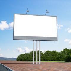 3d rendering blank billboard 05-1. 3d modeling