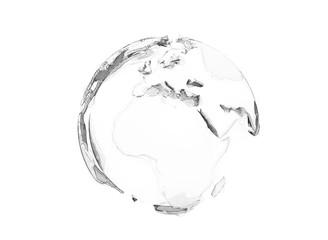 3d world globe polygon design isolated on white
