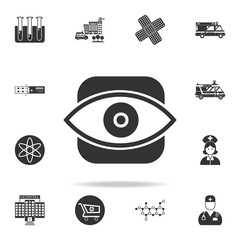 Eye icon. Detailed set of medicine element Illustration. Premium quality graphic design. One of the collection icons for websites, web design, mobile app