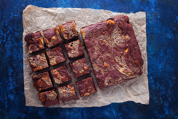 halva brownie with tahini