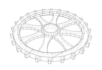 Gear sketch. Vector