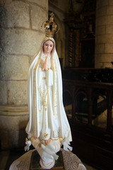 Virgin Mary statue in old cathedral of Santo Domingo