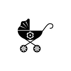 baby carriage icon. Element of baby icon. Premium quality graphic design. Signs and symbols collection icon for websites, web design, mobile app