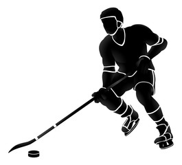 Ice Hockey Player Sports Silhouette