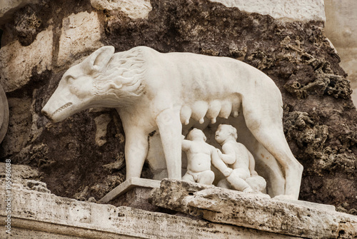 the founding of rome capitoline she wolf feeding romulus and remus